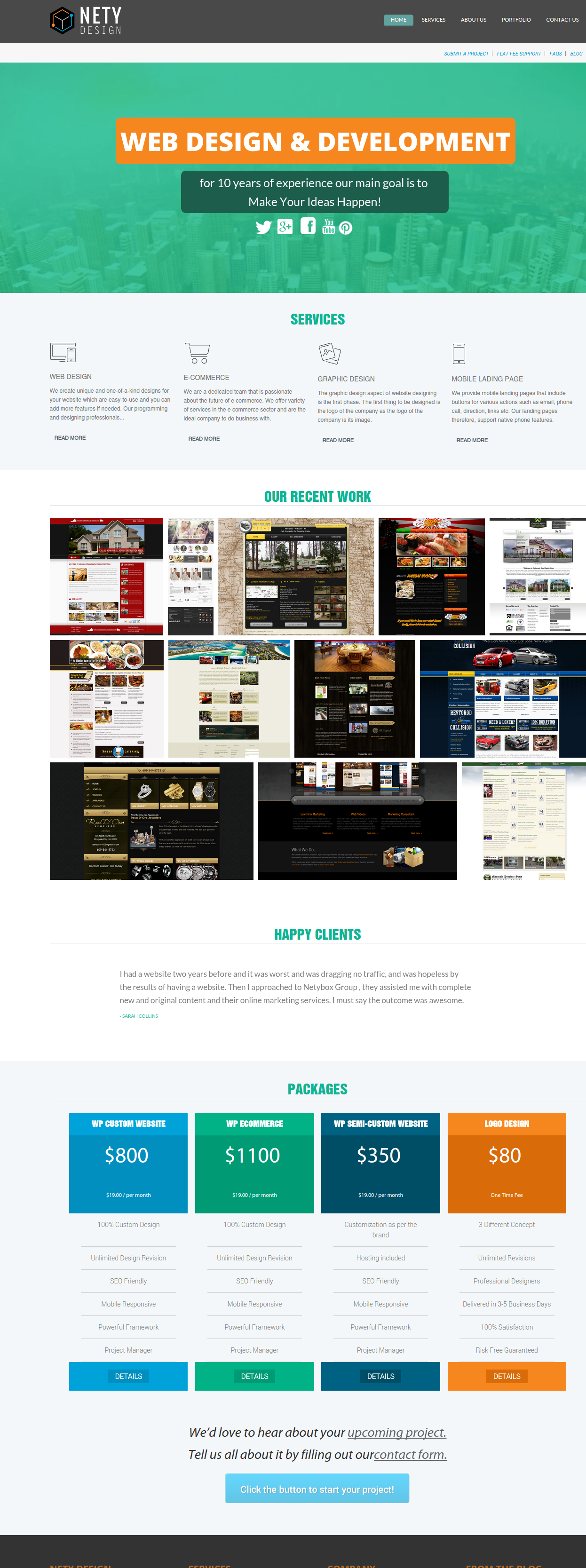 netydesign website services
