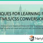 Techniques for Learning PSD to HTML5/CSS Conversion