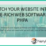 Switch your website into a feature-rich web software with PHP